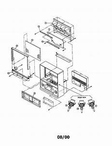 Schematic Diagram Hitachi Ct4546 Projection Color Tv