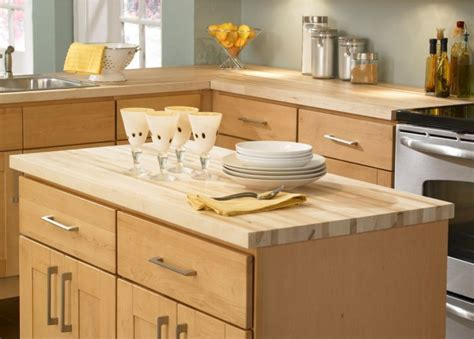 butcher block countertop devoid of culture and indifferent to the arts object of
