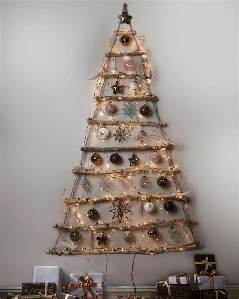 magnificent wall christmas tree ideas   perfect