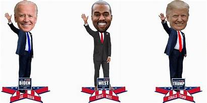 Trump Biden Kanye Presidential Bobbleheads Donald Unveiled