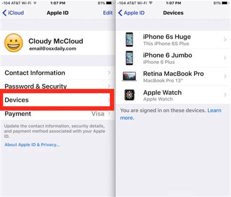 remove iphone from icloud how to remove iphone iphone device from icloud apple id