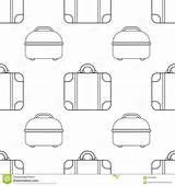 Illustration Seamless Coloring Bags Pattern sketch template