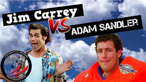christmas movie that has adam sandler in it adam sandler jim carrey the great debate