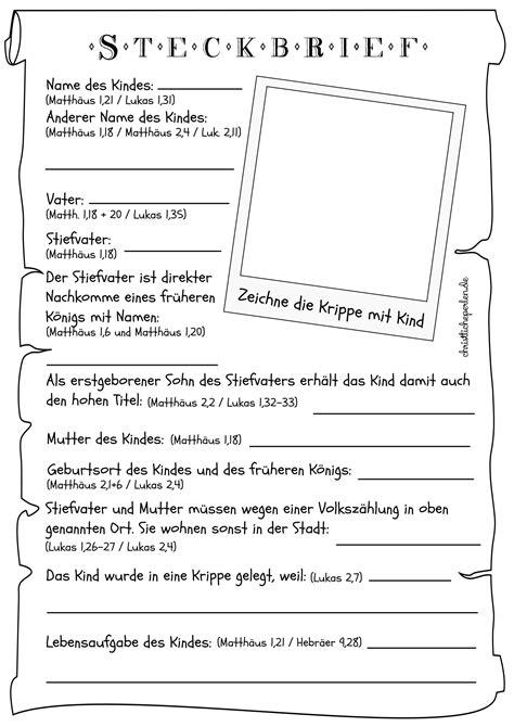 steckbrief jesus arbeitsblatt arbeitsblaetter christliche