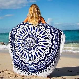 Serviette De Plage Ronde Eponge : serviette de plage ronde carib enne les antillaises ~ Teatrodelosmanantiales.com Idées de Décoration