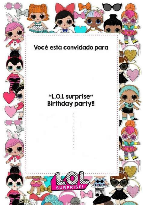 molde de convite da net google lol lol dolls lol