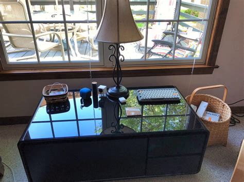 Available for purchase at wayfair, the sobro coffee table comes in white and black. Sobro Cooler Coffee Table will charge your iPhone and chill your drinks