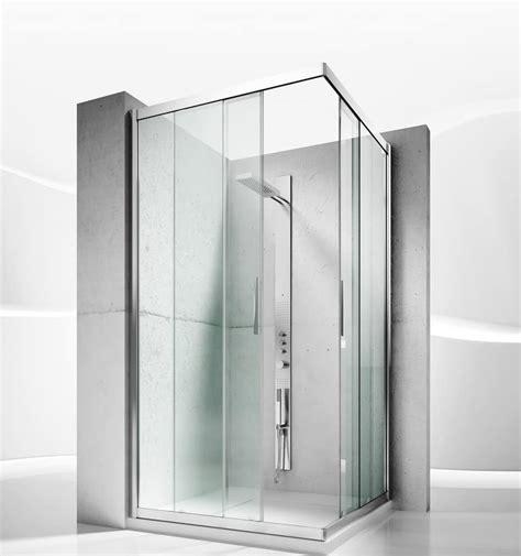 cabina doccia in cristallo cabina doccia con porte scorrevoli in cristallo idfdesign