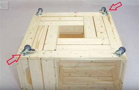 peindre meuble cuisine fabriquer une table basse avec des caisses de vin des idées
