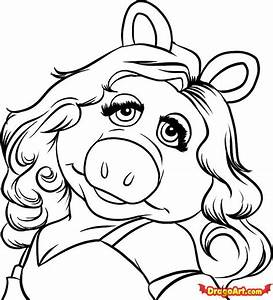 How to Draw Miss Piggy, Step by Step, Characters, Pop ...