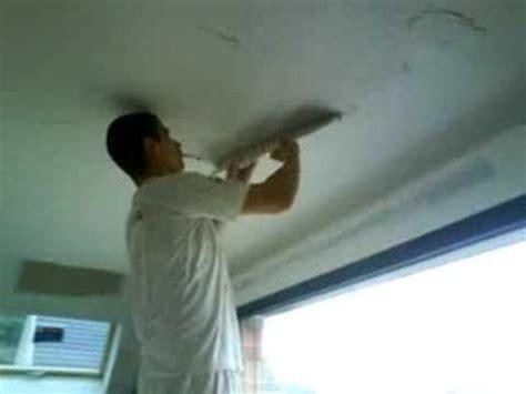plafond d un cel lissage du pl 226 tre sur un plafond