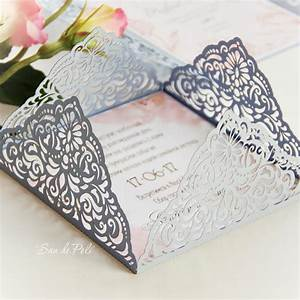 Wedding invitation card template four fold filigree for Laser cut wedding invitations cricut