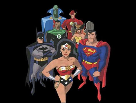 Justice League Animated Wallpaper - justice league animated series comiccartoonchallenge