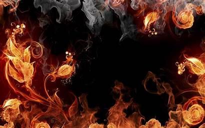 Fire Flowers Wallpapers Backgrounds Desktop Wallup