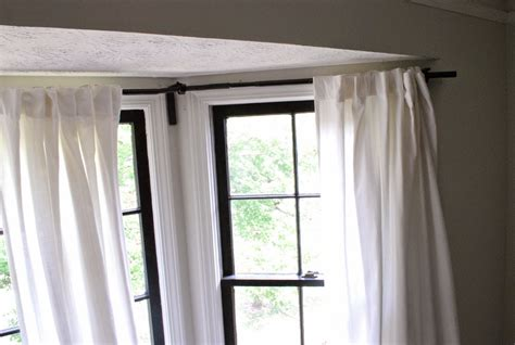 curtain rods for bay windows home design ideas