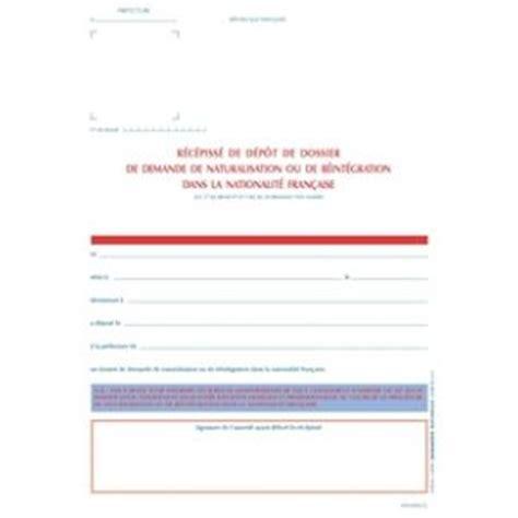 bureau de nationalité française récepissé de dépôt demande de nationalité française legaldoc