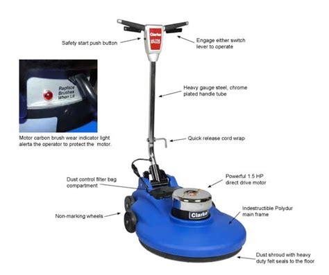 Clarke Floor Buffer Manual by Clarke 1500dc High Speed Floor Burnisher 1500 Rpm 20