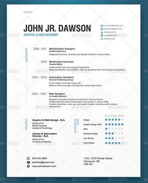 Contemporary Resume Templates by 30 Modern And Professional Resume Templates