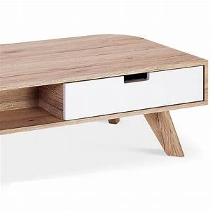 Table Basse Bois Scandinave : table basse a tiroir maison design ~ Teatrodelosmanantiales.com Idées de Décoration