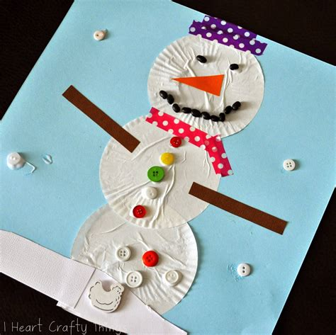 i crafty things cupcake liner snowman craft 845 | DSC0018