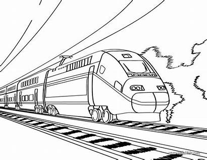Coloring Pages Transportation Modes Transit Mass