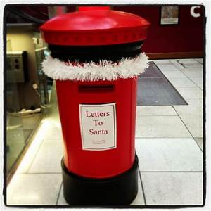 our very own post box for santa39s letters christmas With christmas letter box