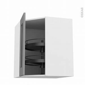 Meuble Haut Cuisine Vitré : meuble de cuisine angle haut vitr filipen gris tourniquet 1 porte n 83 l40 cm l65 x h70 x p37 ~ Teatrodelosmanantiales.com Idées de Décoration