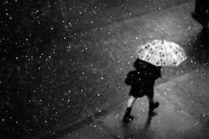 black and white, girl, nature, photo, rain, raining ...