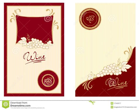 wine labels  swirls royalty  stock photography