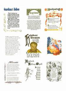 Brochure Beauty Book Of Shadows Replica Pages A Journal Art On Cut Out
