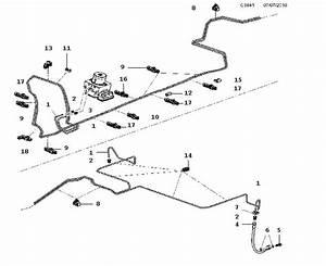 Saab 9-5 Brake Line  Lines  Center