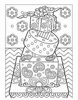 Dessert Coloring Desserts Sweet sketch template