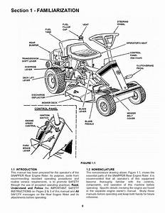 Snapper 281320be User Manual Rear Engine Riding Mower