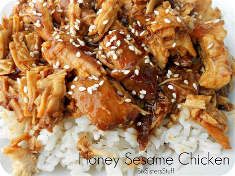 chicken crockpot recipe slow cooker honey sesame chicken six sisters stuff