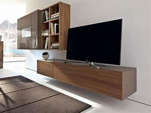 Meuble Tele Suspendu : meuble tv suspendu 25 id es pour un int rieur l gant ~ Teatrodelosmanantiales.com Idées de Décoration