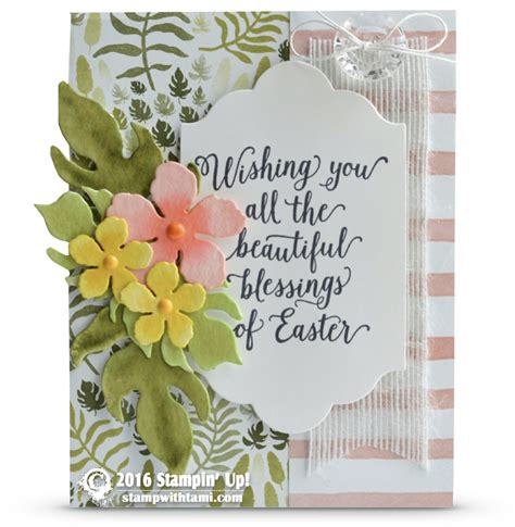 Check out our greeting cards selection for the very best in unique or custom, handmade pieces from our greeting cards shops. CARD: Wishing You All the Beautiful Blessings of Easter | Stampin Up Demonstrator - Tami White ...