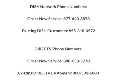 satellite tv phone number  telephone number
