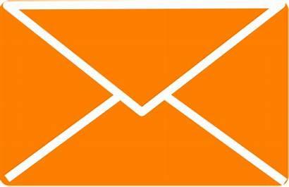 Envelope Orange Clip Icon Clipart Vector Subscription
