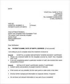 sample complaint letter format templates
