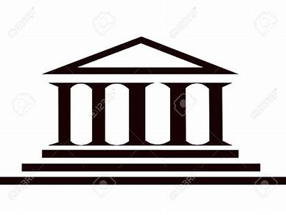 Greek Clipart Building Ancient Temple Vector Silhouette