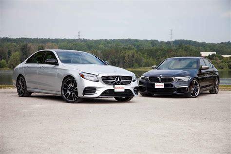 Vs Bmw by 2017 Mercedes E43 Amg Vs Bmw M550i Comparison