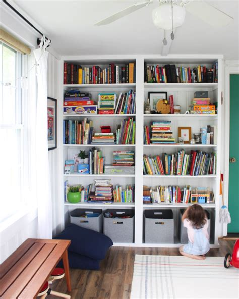 how to build a wall bookcase step by step build your own playroom floor to ceiling shelf discover