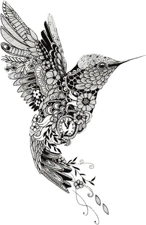 tattoo henna mehndi mandala bird hummingbird