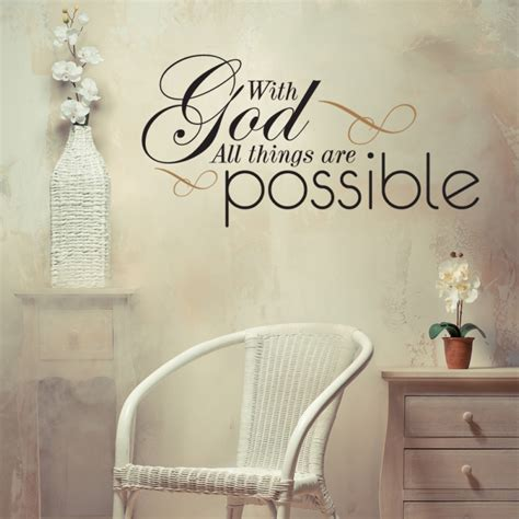 christian vinyl wall art decor  god