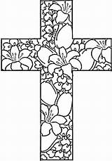 Coloring Easter Cross Pages Religious Printable Jesus Adult Adults Flowers Mandala Christian Colouring Crosses Sheets Sheet Printables Bible Bestcoloringpagesforkids Getcolorings sketch template