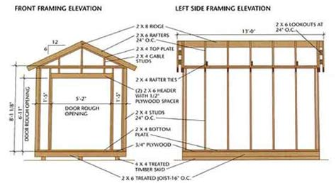 6x8 Storage Shed Plans Free by How To Build A Wood Shed With Shed Storage Plans