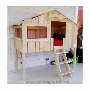 Lit Cabane Au Sol : lit cabane en tilleul massif d couvrir au le sp cialiste ~ Premium-room.com Idées de Décoration