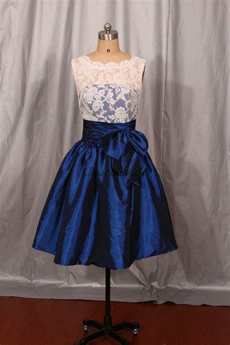 white lace navy blue taffeta bridesmaid dressessimple