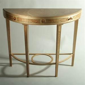 Table Demi Lune Pliante : bespoke global product detail masur birch demi lune hall table ~ Dode.kayakingforconservation.com Idées de Décoration