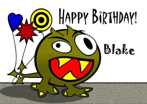 blake happy birthday monster  balloons